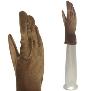 サテン手袋 伸縮手袋 グローブ 結婚式 ブライダル パーティーグローブ フォーマル手袋 ショート丈 セピア|bourree