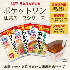 非常食 保存食 ポケットワンわかめスープ[1食...の詳細画像1