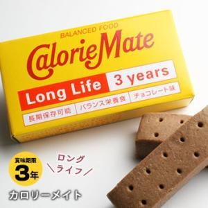 非常食 保存食 カロリーメイトロングライフ[2本入]チョコレート味【賞味期限2023年5月18日迄】