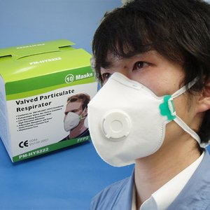 豚インフルエンザ対策!抗ウイルスレスピレータ(FFP2クラス)排気バルブ付[10枚入](インフルエンザ対策 マスク)