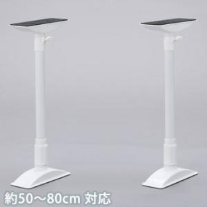 耐震 突っ張り棒 家具転倒防止伸縮棒ML ホワイト 約50〜80cm対応 KTB-50アイリスオーヤマ|bousai