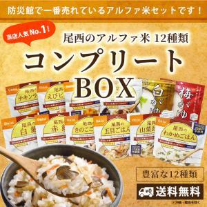非常食 防災食 アルファ米12種セット(12食分)  尾西食品 コンプリートBOX  送料無料|bousai