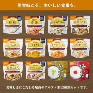 非常食 防災食 アルファ米12種セット(12食分)  尾西食品 コンプリートBOX  送料無料|bousai|03
