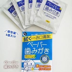 ペーパー歯みがき(5包入り)(衛生/清潔/歯磨き/口腔衛生/クールウェイブ)[M便 1/9]|bousai