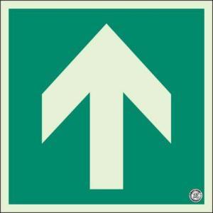 蓄光式床面避難口・通路誘導標識 矢印 N夜光 ユニット 829-11A|bousaikeikaku
