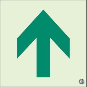 蓄光式床面避難口・通路誘導標識 矢印 N夜光 ユニット 829-14A|bousaikeikaku