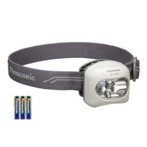 (LEDライト 停電対策)パナソニック 乾電池エボルタ付き LEDヘッドランプ BF-AH01K-W|bousaikeikaku