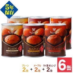 非常食 備蓄deボローニャ ブリオッシュパン パンの缶詰 5年保存×6缶(防災 防災グッズ 保存食 5年保存)