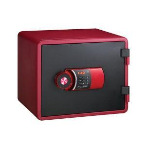 エーコー テンキー式小型耐火金庫 イエス・カラーセーフ YESM-020RD レッド(家庭用金庫 小型金庫 耐火)|bousaikeikaku