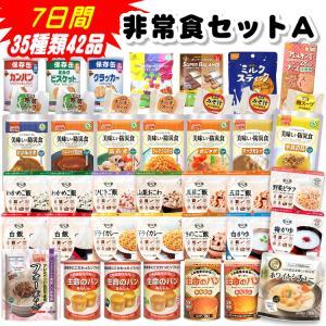 非常食セットA 7日間35種類42品(賞味期限5年保存 防災グッズ 保存食 アルファ米)