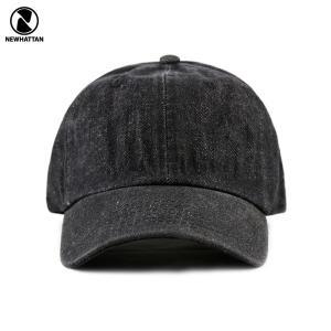 NEWHATTAN(ニューハッタン):ワンウォッシュ デニム キャップ/ブラック/メンズ&レディース/ファッション 帽子|boushikaban