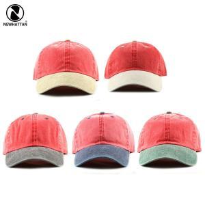 NEWHATTAN(ニューハッタン):ツートン ピグメント ベースボール キャップ/メンズ&レディース/ファッション 帽子|boushikaban