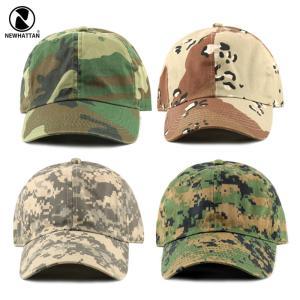 NEWHATTAN(ニューハッタン):ウォッシュドベースボール キャップ/カモフラージュ/メンズ&レディース/ファッション 帽子|boushikaban
