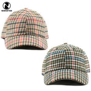 NEWHATTAN(ニューハッタン):ウール ブレンド キャップ/ガンクラブチェック/メンズ&レディース/ファッション 帽子|boushikaban