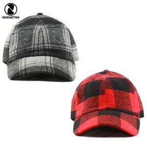 NEWHATTAN(ニューハッタン):ウール ブレンド キャップ/ブロックチェック/メンズ&レディース/ファッション 帽子|boushikaban