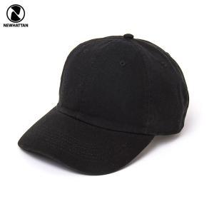 NEWHATTAN(ニューハッタン):ウォッシュドベースボール キャップ/ブラック/メンズ&レディース/ファッション 帽子|boushikaban
