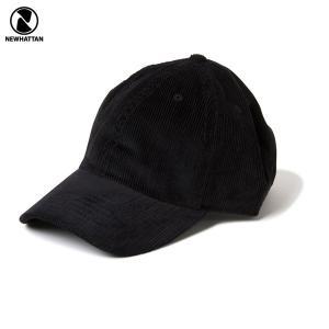 NEWHATTAN(ニューハッタン):コーデュロイ ベースボール キャップ/ブラック/メンズ&レディース/ファッション 帽子|boushikaban