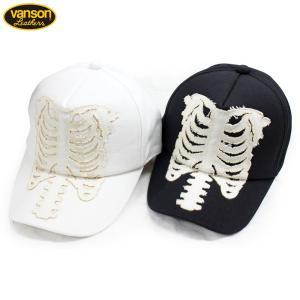 VANSON(バンソン):キャンバス ボーン キャップ/メンズ&レディース/ファッション 帽子|boushikaban