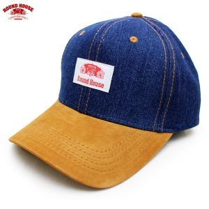 ROUND HOUSE(ラウンドハウス):デニム×スエード ベースボール キャップ/メンズ&レディース/ファッション 帽子|boushikaban