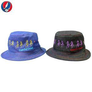 GRATEFUL DEAD(グレイトフル・デッド):スカル バケットハット/メンズ&レディース/ファッション 帽子|boushikaban