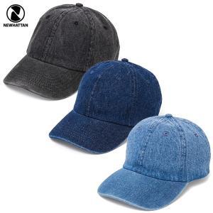 NEWHATTAN(ニューハッタン):ウォッシュド デニム キャップ/メンズ&レディース/ファッション 帽子|boushikaban