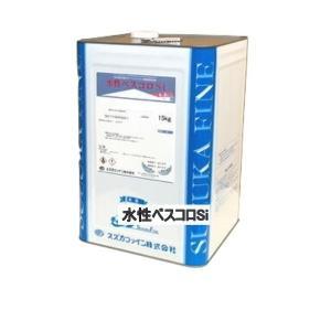 スズカファイン 水性ベスコロSi つや消し 15kg 屋根用塗料 水性1液反応硬化形アクリルシリコン樹脂系塗料|bousui-must