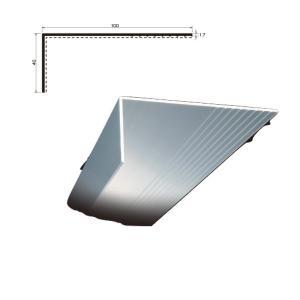 L型アルミアングル 端末押え金物 TA-104 厚さ 1.7 規格 40×100×2,000/本 各種シート防水 タイセイ|bousui-must