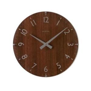 イギリス IN HOUSE インハウスデザイン社 ドームクロック 40cm ウォルナット・NW30WB時計 壁掛け時計 掛け時計 bouwhan