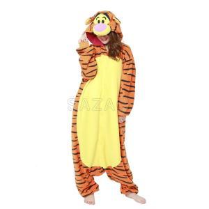 大人気キャラクター「ティガー」の着ぐるみです。あたたかいフリース素材で着心地もGOOD!!パジャマや...