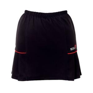 (ソシオ) SSOSIO スカートSKT-23106 ブラック(レッドライン)|bowlingcom