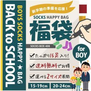 【送料無料】【新学期応援福袋】 男の子アイテムが15足も入った!ボーイズ靴下福袋 ハイソックスにクルー丈、くるぶし丈など|box408