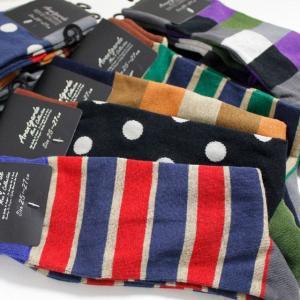 【綿混素材】 靴下 メンズ  ワンランク上のメンズソックス ポップデザイン 10足セット 【送料無料】|box408