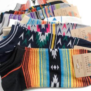 靴下 メンズ くるぶし ソックス ネイティブ系デザイン 10足セット / ショートソックス / 送料無料|box408