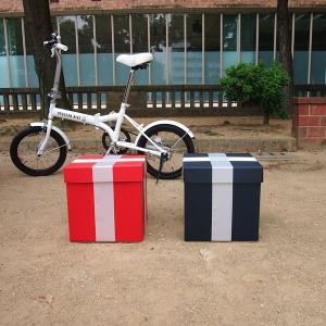 特大ボックス(赤/黒)30センチ角 白リボン付き|boxstore-net