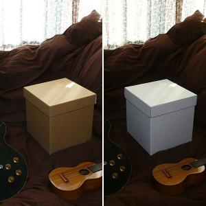 特大ボックス(クラフト/白)30センチ角|boxstore-net