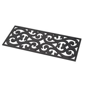屋外用の階段マット(北欧風) ラバーマット 滑り止めマット 泥落とし 砂 エコ アプローチ 汚れ防止 玄関 おしゃれ リサイクル かわいい 庭 スロープ 25.0cm×75.0|bozu