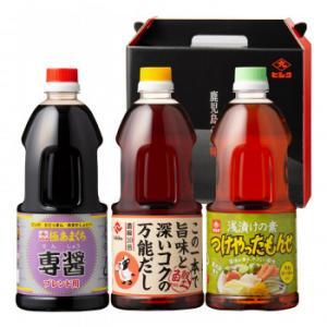 代引不可 ヒシク藤安醸造 さつま料亭の味セット 1L 浅漬け 3種類 鹿児島 しょうゆ 日本製 調味料 九州 だし|bozu
