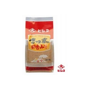 代引不可 ヒシク藤安醸造 さつま田舎麦みそ(麦白みそ) 1kg×5個|bozu