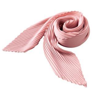 プリーツスカーフ(ピンク) ヘアバンド ひし形 レディース 肌触り リボン 飾り バッグ オシャレ コーディネート かばん シワになりにくい 今風 かわいい 約縦48× bozu
