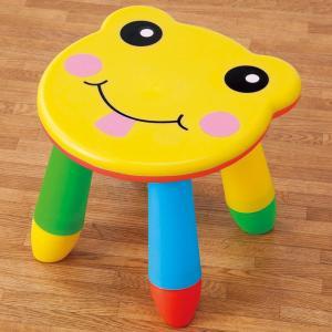 カラフルチェア イス 椅子 アウトドア スツール かわいい 組立て キッズチェア 子ども ガーデンピクニック 鮮やか おままごと ローチェア カラフル 約直径28.5×|bozu