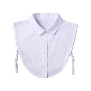 重ね着風つけ襟(白) 首元 重ね着 付け襟 コーディネート シャツ レイヤードスタイル 服 オシャレ 丸首 白 かわいい ファッション小物 約37×35×1cm|bozu