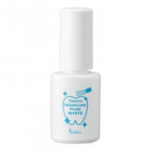 ビューナ トゥースマニキュア ピュアホワイト 歯 塗るだけ 隠す 白 着色汚れ マニキュア 汚れ ステイン 黄ばみ|bozu