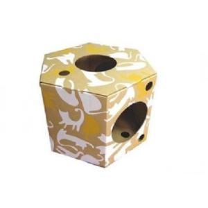 組立式ダンボール製キャットハウス にゃんだ〜ランド プレイボックス かわいい 猫小屋 ダンボール キャットタワー おしゃれ 猫ハウス 段ボール ペット用品 ボ|bozu