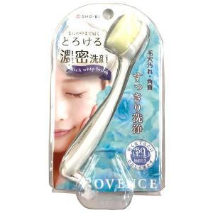 リッチホイップブラシ コンパクト SPV71142 ブラシ 洗顔 毛穴汚れ 極細毛先 洗顔ブラシ フェイスブラシ ティアドロップ形状 角質 超極細 W2.5×H17×D4cm|bozu