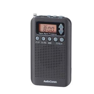 オーム電機 OHM AudioComm DSP FMステレオ/AMポケットラジオ ブラック RAD-P350N-K|bozu