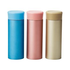 真空スリムマグボトル 300ml(メタリック) JM-721 6363-012 色おまかせ 保冷 保温 ウォーターマグ コンパクト 水筒 かわいい おしゃれ 小さい 直径5.9×高さ17.5c|bozu