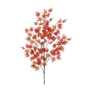 代引不可 ニューホンコン造花 大モミジ(紅葉)レッドオレンジ  369502 全長108cm、葉7cm|bozu