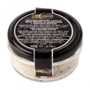 代引不可 ジュリアーノ・タルトゥーフィ ゲランド塩 サマートリュフ入り 60g 8個セット 2056|bozu