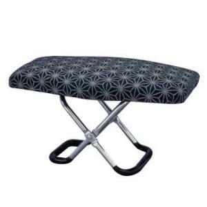 楽珍正座椅子 携帯用 腰痛 おしゃれ 折りたたみ ワンタッチ 滑り止 かわいい 軽量 和柄 持ち運び 麻の葉模様 コンパクト 軽い|bozu