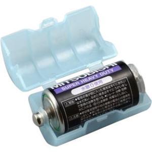 スマイルキッズ(SMILE KIDS) 単2が単1になる電池アダプター(2個入り) ブルー ADC-210 約φ33×61mm bozu